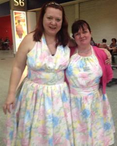 Sisters taking the crafting fair by storm. We made matching 50s style dresses and got dozens of comments on them.