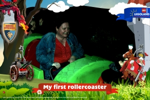 Not even His plug could save me on the roller coaster (KIDDIE one at that!)