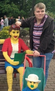 At Legoland...what a REAL Man won't do for his baby sister?